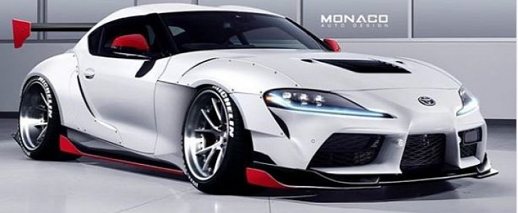 2020 Toyota Supra Gets Widebody Kit and Huge Wing in Tuner Rendering - autoevolution