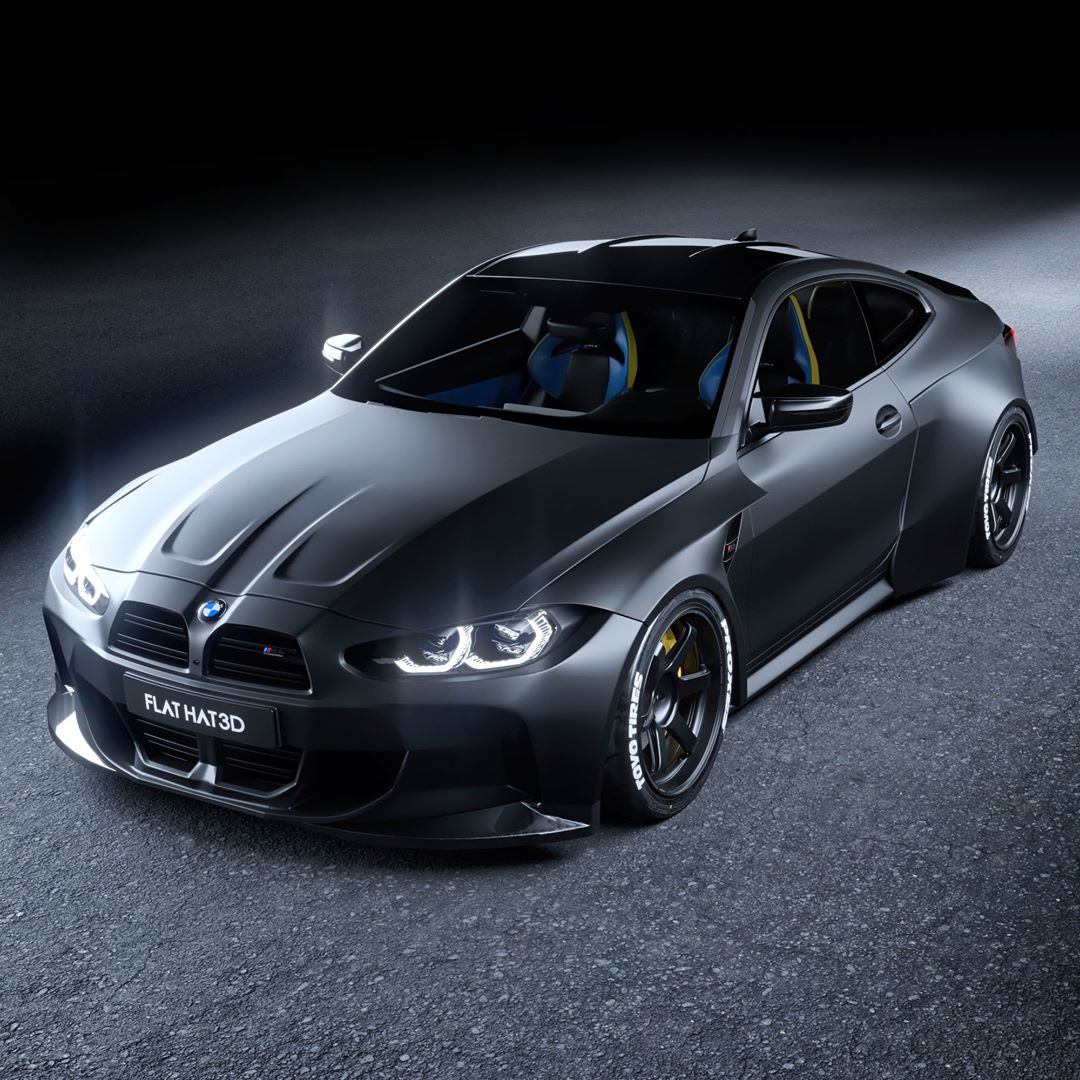 Widebody 2021 Bmw M4 Coupe Looks Like A Perfect Street Drifter Autoevolution