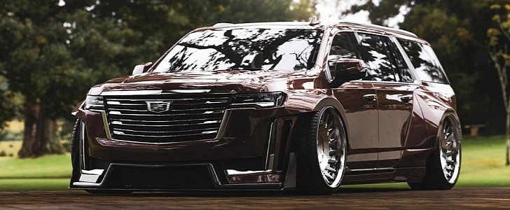 Widebody 2021 Cadillac Escalade Is Long and Wide - autoevolution