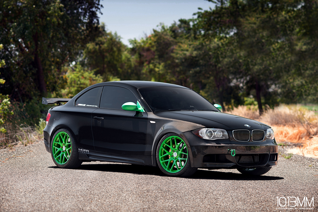 widebody bmw 135i little green moster autoevolution. Black Bedroom Furniture Sets. Home Design Ideas