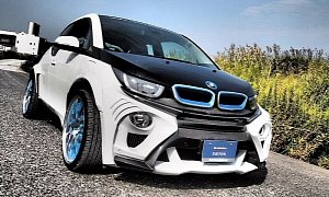 Widebody BMW i3 Evo Tuning from Japan Looks Like a Fish