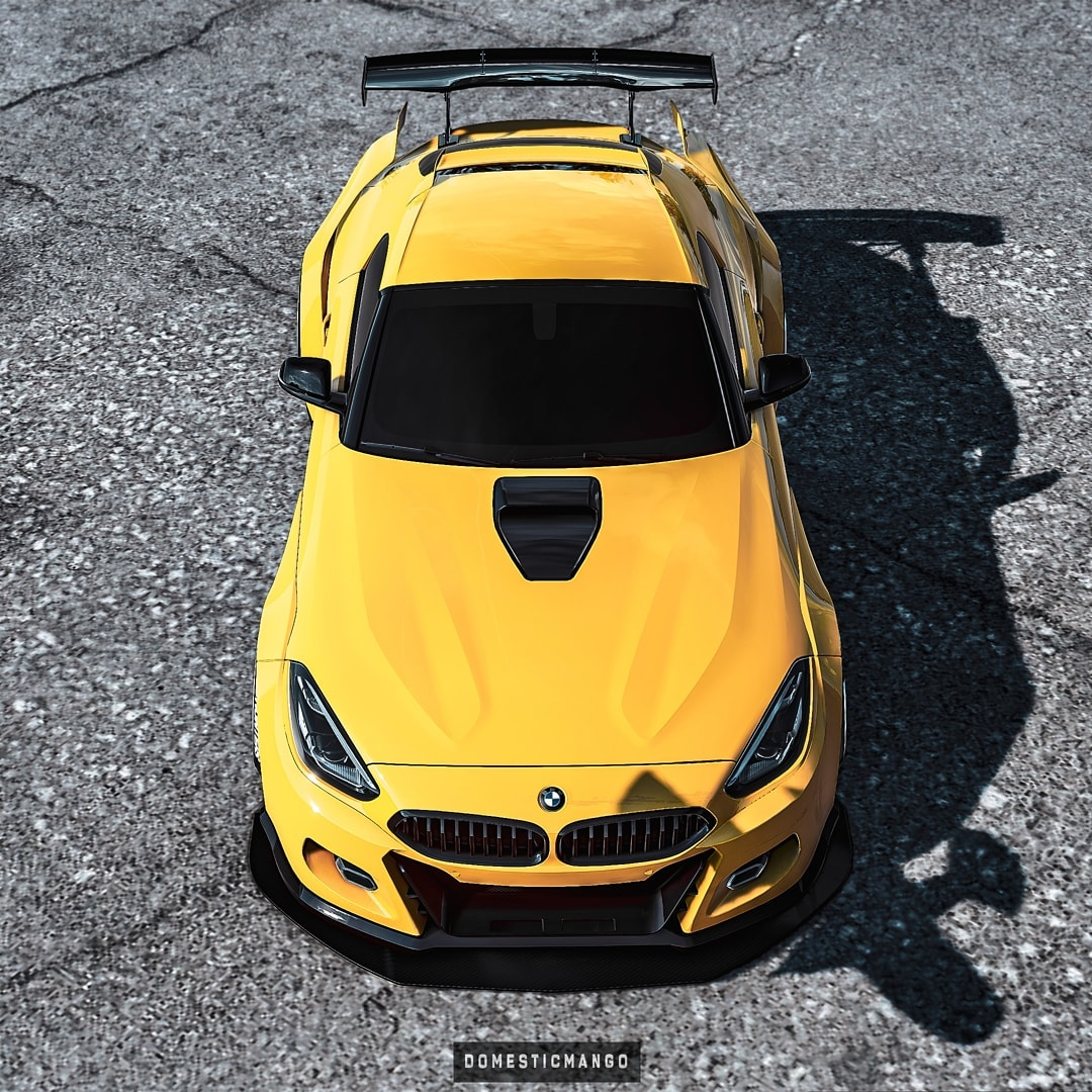 Widebody Bmw Z4 Hardtop Looks Like A German Supra Has Floating Rear Wing Autoevolution