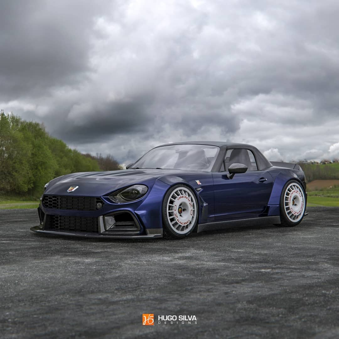 Widebody Fiat 124 Abarth Looks Like The Race Car It Should Have Been Autoevolution