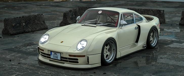 Widebody Porsche 959 Rendering Looks Like the RWB Supercar