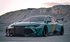 Widebody Toyota Avalon Race Car Defies Convention, Looks Like a JDM Special