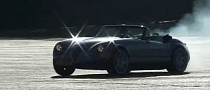 Wiesmann MF3 Roadster Burnout and Drag Racing Video