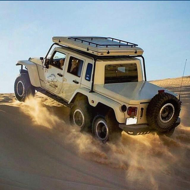 Wild Boar Jeep Wrangler 6x6 Has Guns and a Matching ...