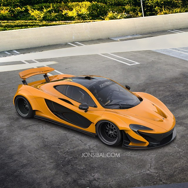 wildbody mclaren p1 rendered ready to one up the p1 lm autoevolution. Black Bedroom Furniture Sets. Home Design Ideas