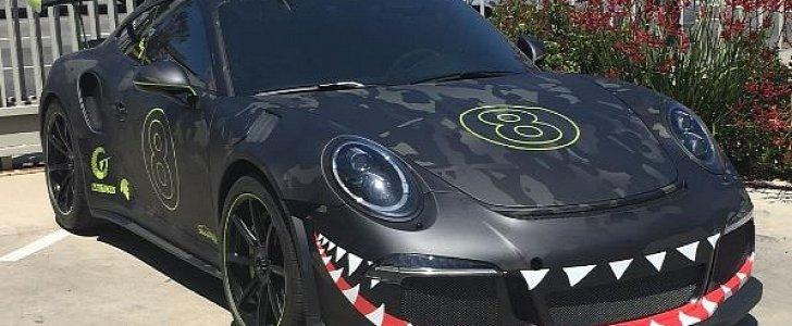Wildest Porsche 911 Gt3 Rs Pdk Mixes Wwii Shark Teeth Fighter Wrap Track Tuning Autoevolution