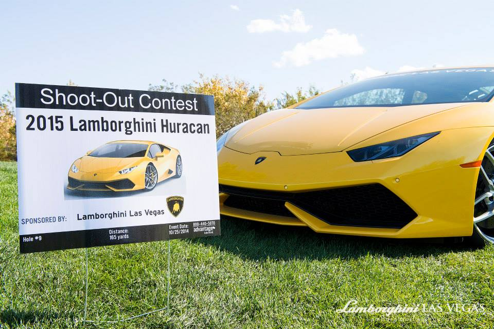 Charming ... Lamborghini Huracan Golf Shootout