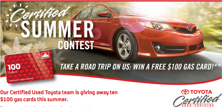 Win Free Gas from Toyota Canada