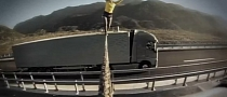 Woman Walks a Rope Between Two Rolling Volvo Trucks in New Ad [Video]