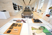 Inside the Aston Martin store in Munich