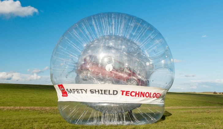 World S Biggest Zorb Used To Roll Nissan Car Down Hill