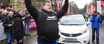 World's Strongest Man Pulls 12 Nissan Notes [Video]