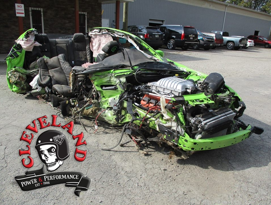 Wrecked Dodge Challenger Hellcat Becomes Running Pallet Donor Car