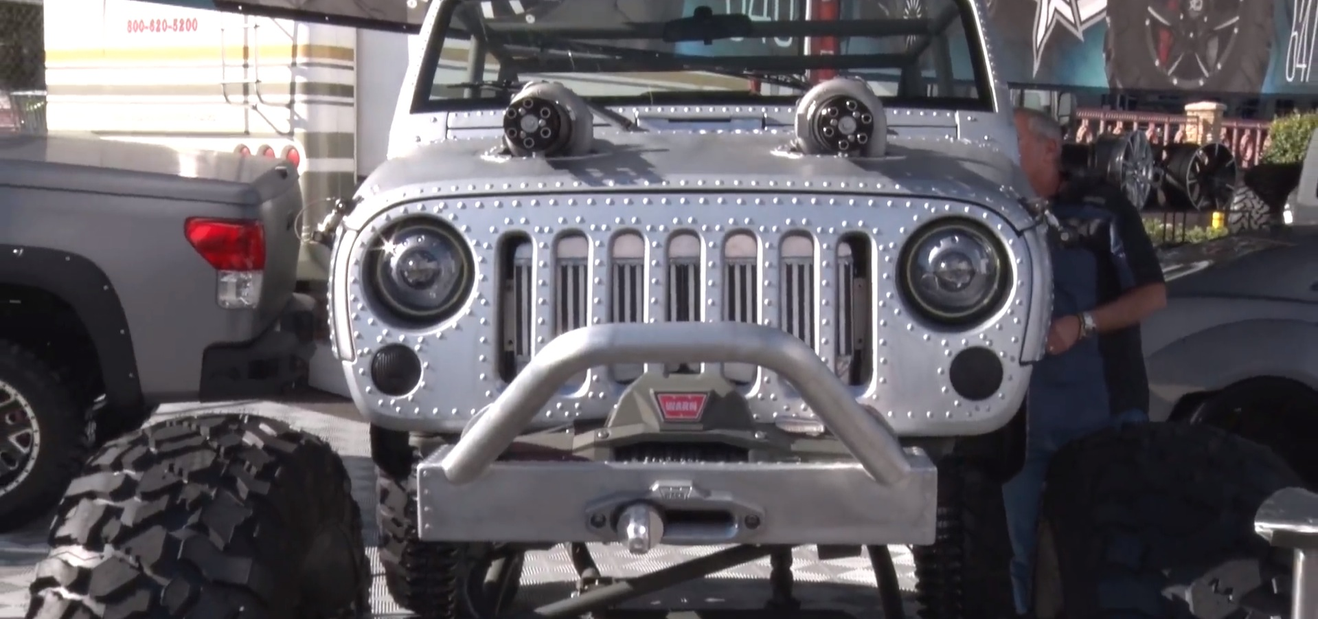 Wwii Themed Jeep Has Machine Gun Turbos And Riveted