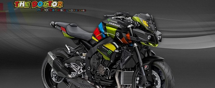 Yamaha MT-10 in Valentino Rossi Livery and More from AD Koncept - autoevolution