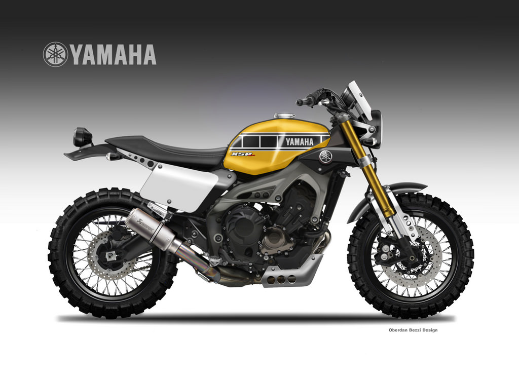 yamaha xsr900 scramblers rendered autoevolution. Black Bedroom Furniture Sets. Home Design Ideas