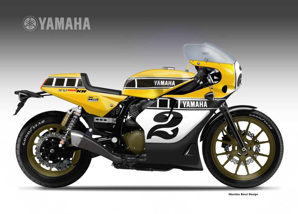 Yamaha XV950 Kenny Roberts Replica Anniversary Concept Rocks - autoevolution