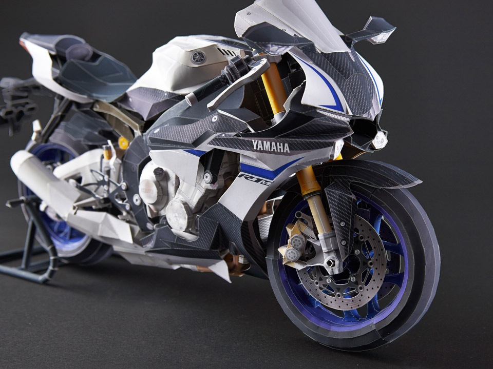 Yamaha YZF-R1M Papercraft Ultra-Realistic Model Available