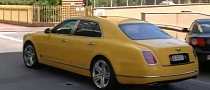 Yellow Bentley Mulsanne Spotted in Monaco [Video]