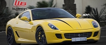 Yellow Ferrari 599 on ADV.1 Wheels Looks Stunning [Photo Gallery]