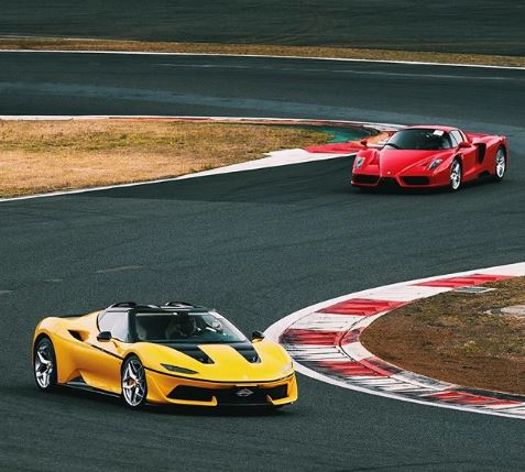 Yellow Ferrari J50 Spotted On The Track Shows Standout Spec Autoevolution