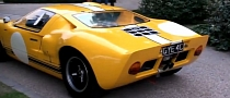 Yellow Ford GT40: American Muscle in London [Video]