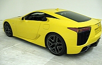 Yelow Lexus LFA photo