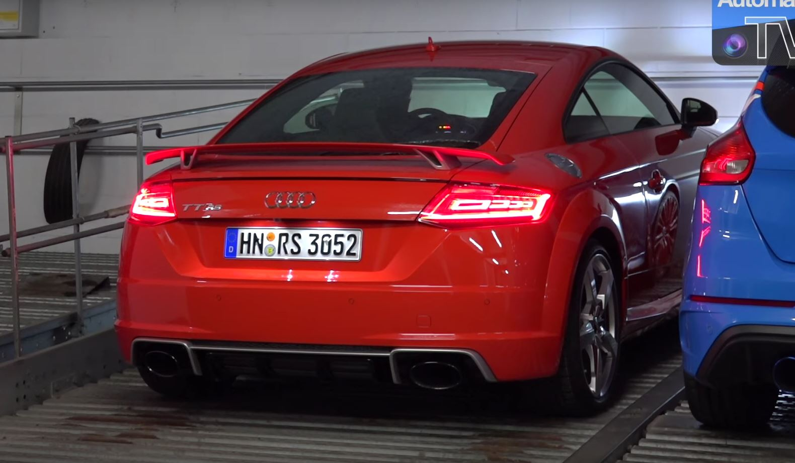 Yes the 400 hp audi tt rs is still brutally fast and loud