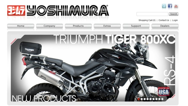 Yoshimura Exhausts Have a New Website