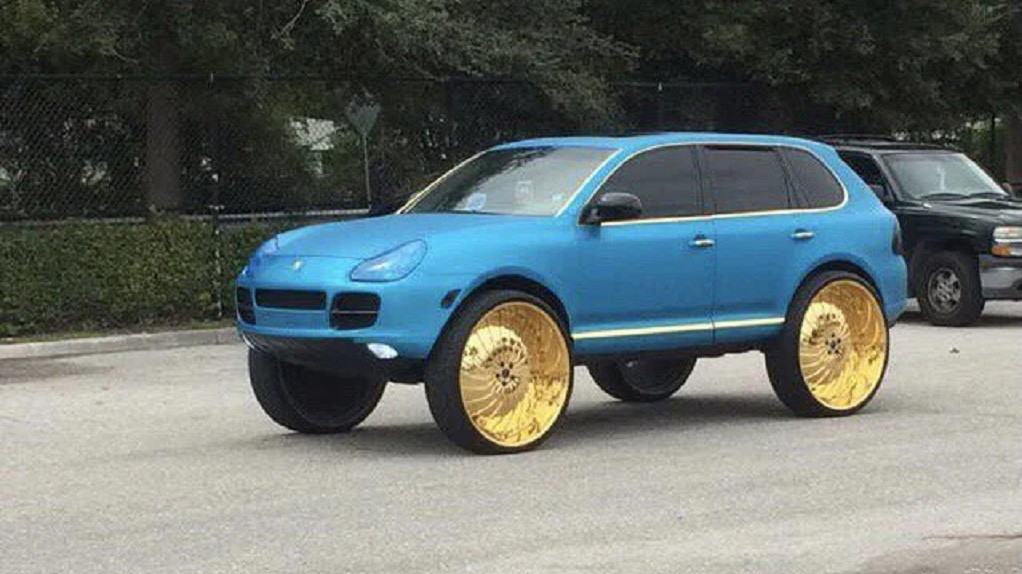 photo of You Can Almost Hear Everyone Scream 'SHAME!' as This Porsche Cayenne Drives By image