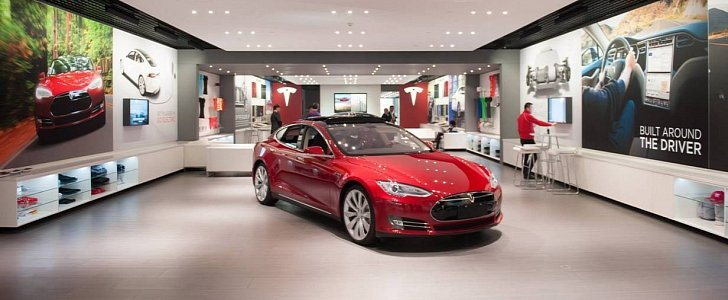 you can now buy a pre owned model s at tesla s first dedicated facility autoevolution. Black Bedroom Furniture Sets. Home Design Ideas