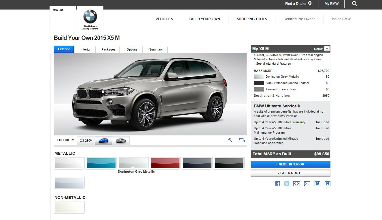 You Can Now Configure Your Bmw X5 M And X6 M On The Usa Website Autoevolution