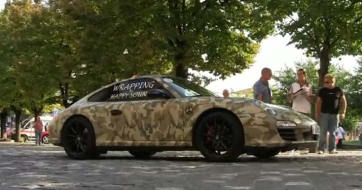 You Can T See Me Porsche 911 Wrapped In Military Camo