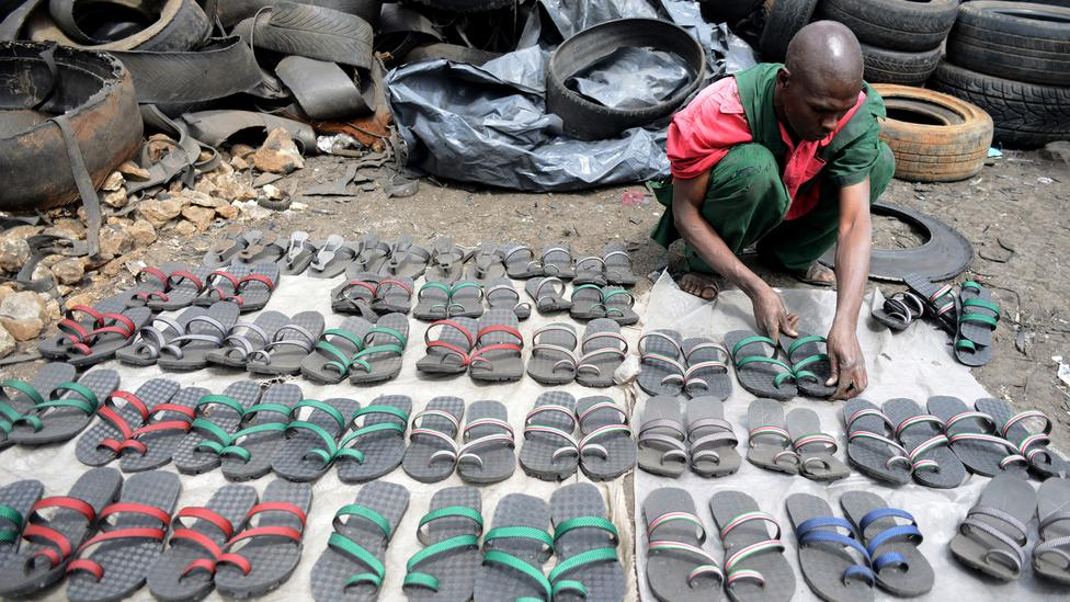 You can make flip flops and furniture out of used tires for What can you make out of old tires