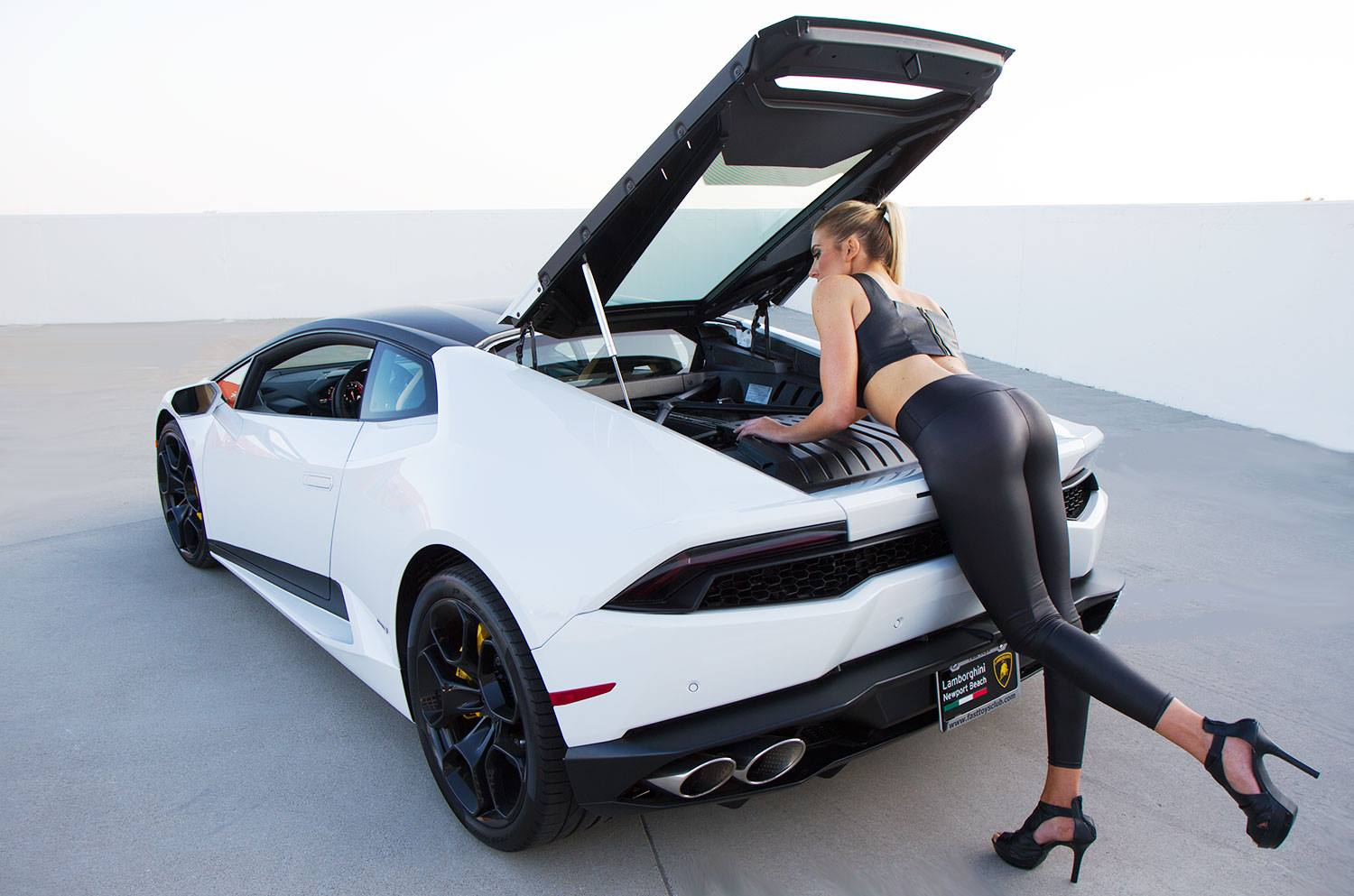 Your Lamborghini Huracan and Blonde Model Fantasy Photos Are