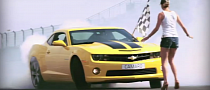 Yvan Muller Drifts Camaro Around Track and Girl [Video]