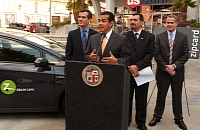 Mayor Antonio Villaraigosa welcomes ZIpcar to Hollywood