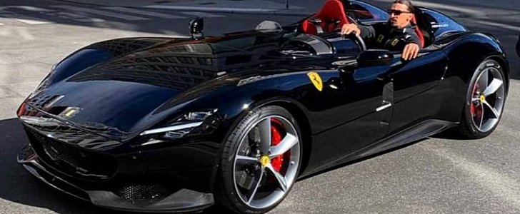 Zlatan Ibrahimovic Spotted Driving Ferrari Monza Sp2 Black Spec Is Epic Autoevolution