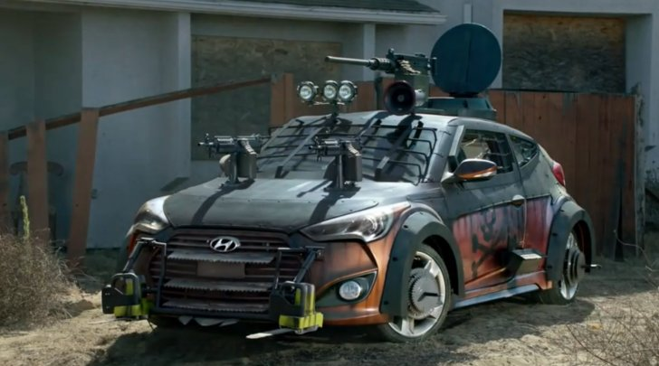 Zombies Are Coming! Quick, Put Guns on the Hyundai [Video]