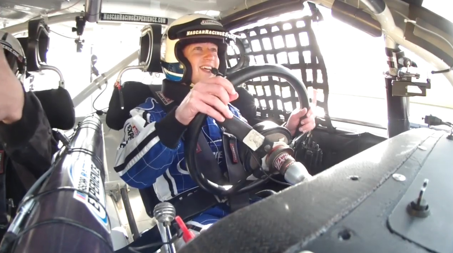 Terrified Mark Zuckerberg Goes For A Spin With NASCAR's Dale Earnhardt
