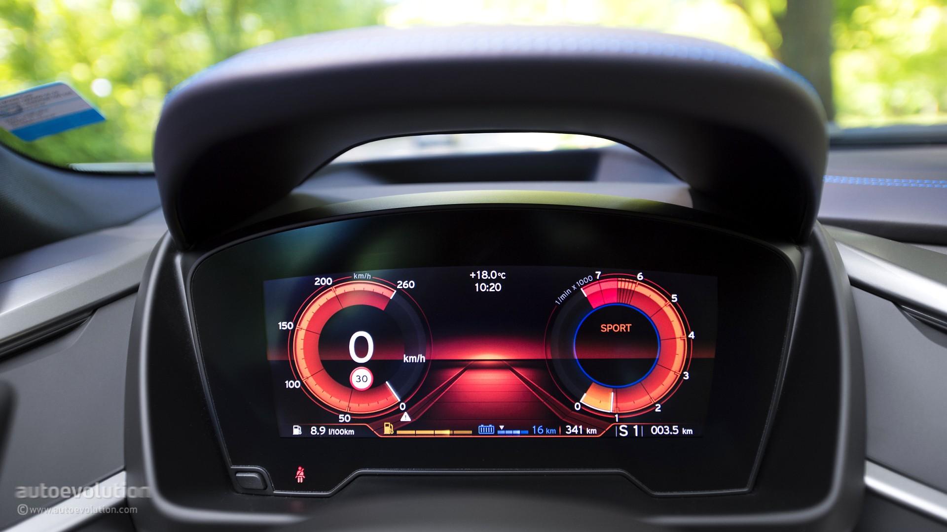Bmw i8 review autoevolution bmw i8 interior speedometer