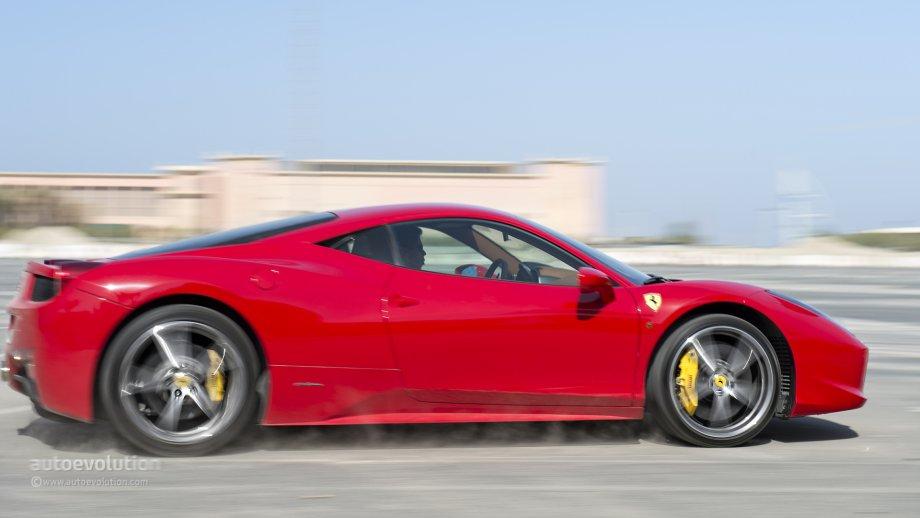 Ferrari 458 test