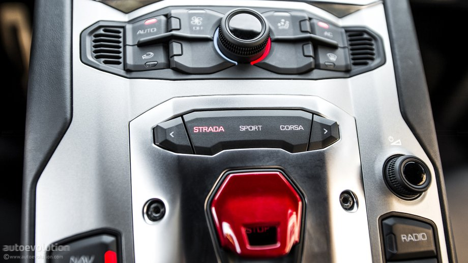 Lamborghini Aventador engine start button - Photo #41/112