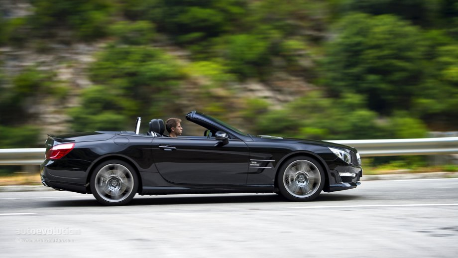 mercedes benz sl63 amg open road driving photo 89 96
