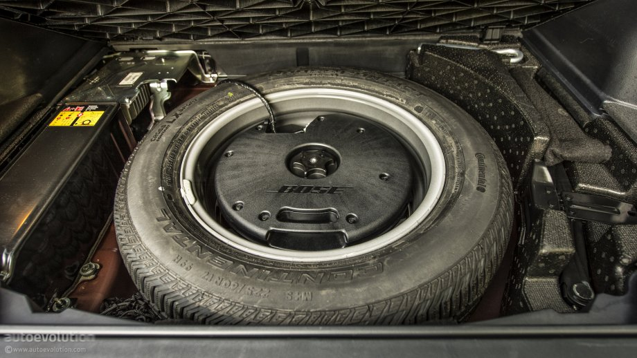 Spare wheel subwoofer
