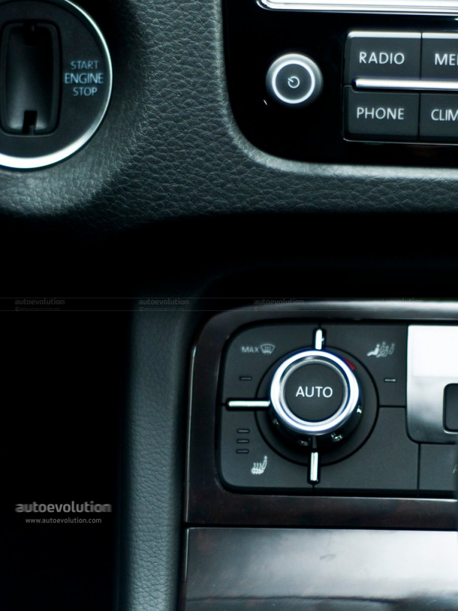 2010 Volkswagen Touareg air conditioning controls