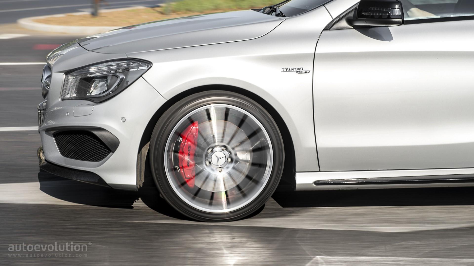2016 mercedes benz cla45 amg shooting brake review for Mercedes benz brake calipers